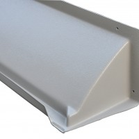 HD Door Canopy by DOORBRIM is recommended for harsh climates with snow and ice – Gray