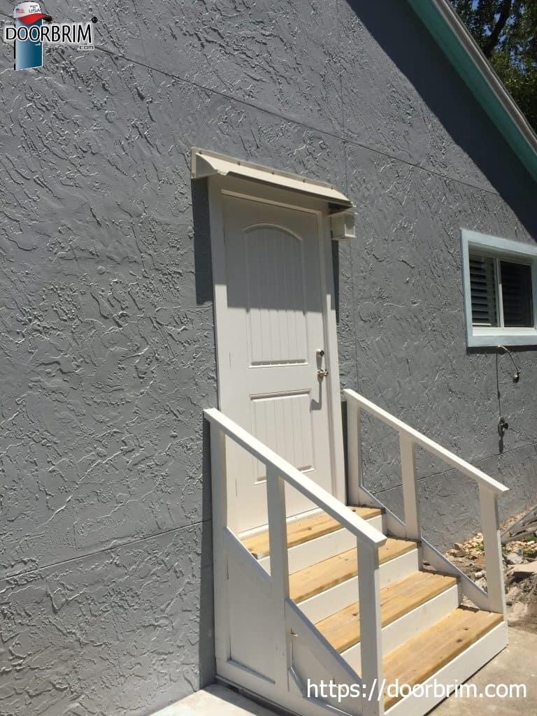 rain deflector for exterior doors