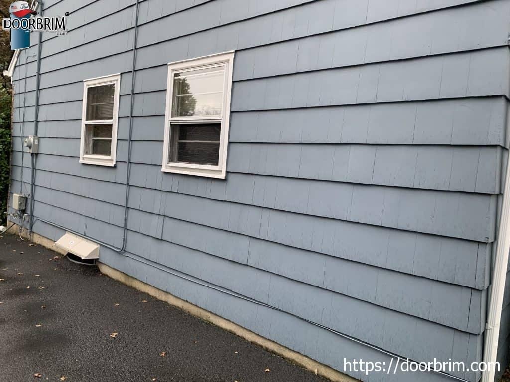 DOORBRIM basement window rain hood