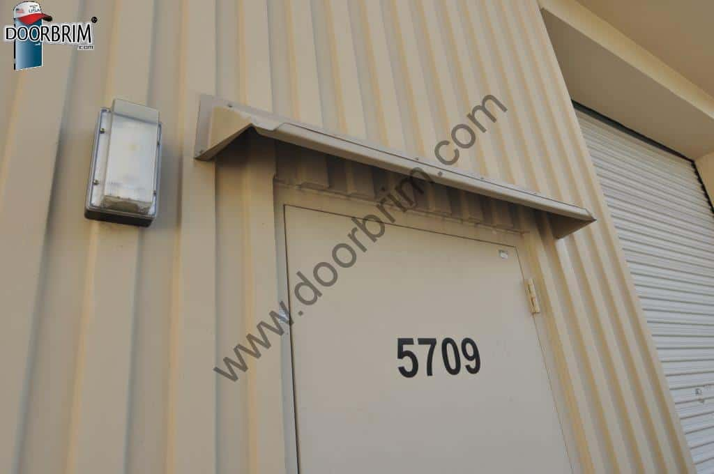 Door Hood on Concrete Ribbed Tilt Building & DOORBRIM Door Canopy