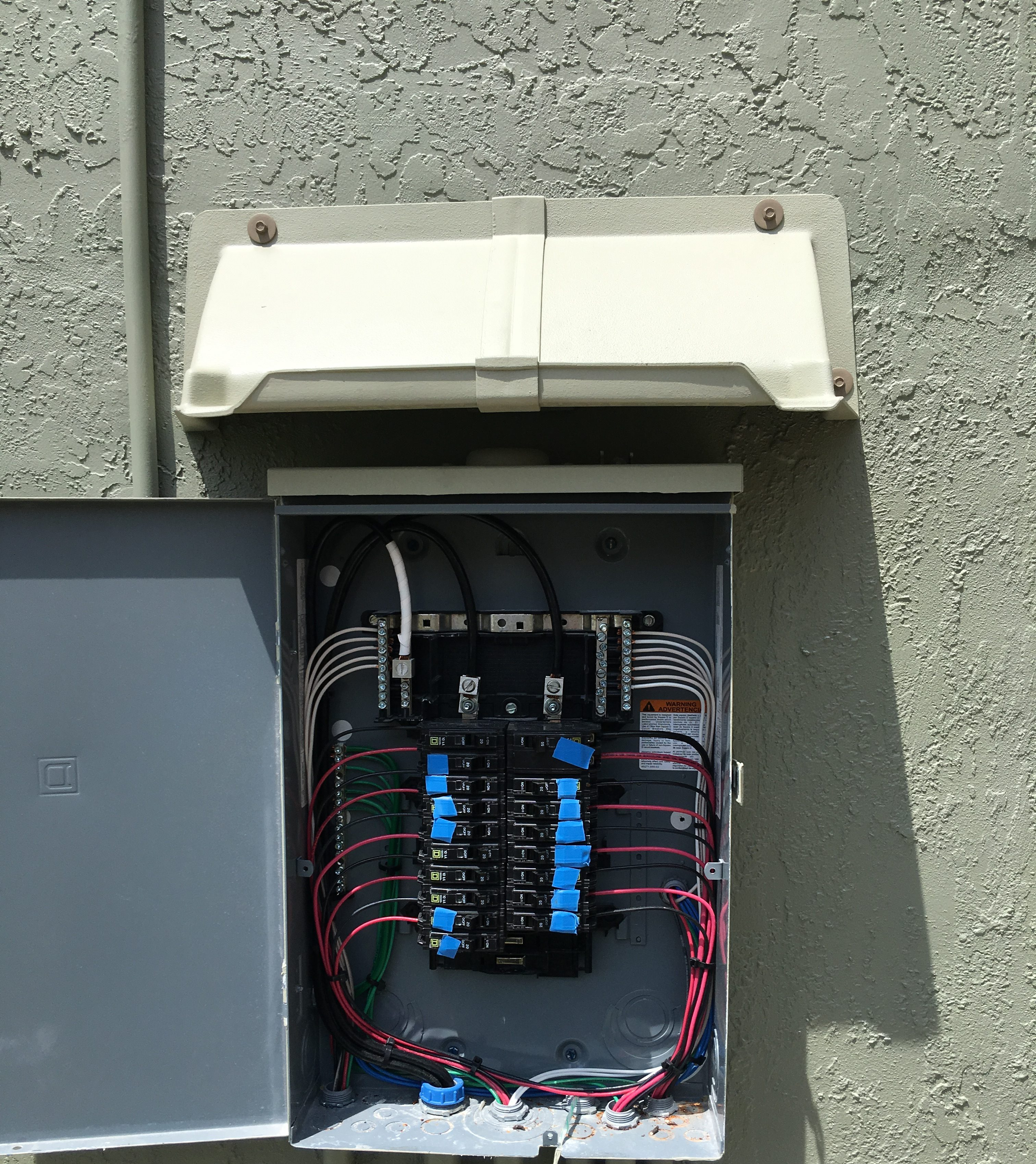 Electric Panel Rain Guards Doorbrim Stops Leaks And