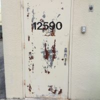 Hollow metal Inner door skins are thin and unprotected inside. When water is introduced, doors rust from inside out.